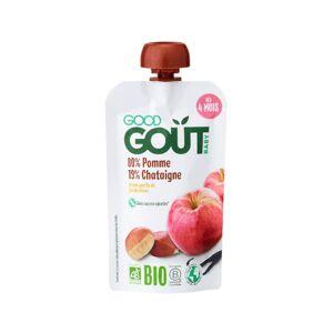 GOOD GOûT GOOD GOUT Gourde de Fruit pour Bébé 120 g - Pomme Chataîgne - Dès 4 mois