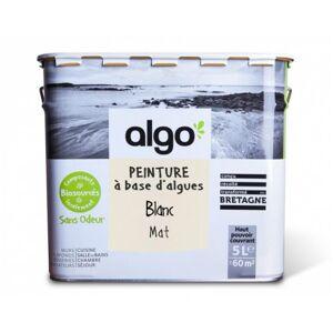 ALGO PAINT Peinture Biosourcée Décorative Blanche Finition Mat (Blanc) 5L