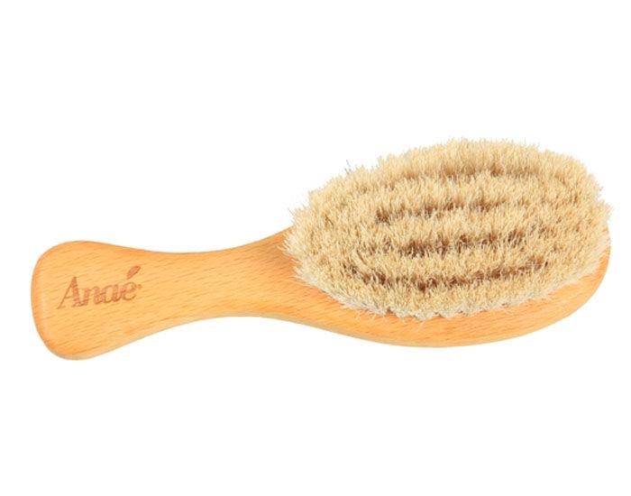 ANAé ANAE Brosse à Cheveux Bébé - Hêtre FSC et Poils de Chèvre - 13 cm