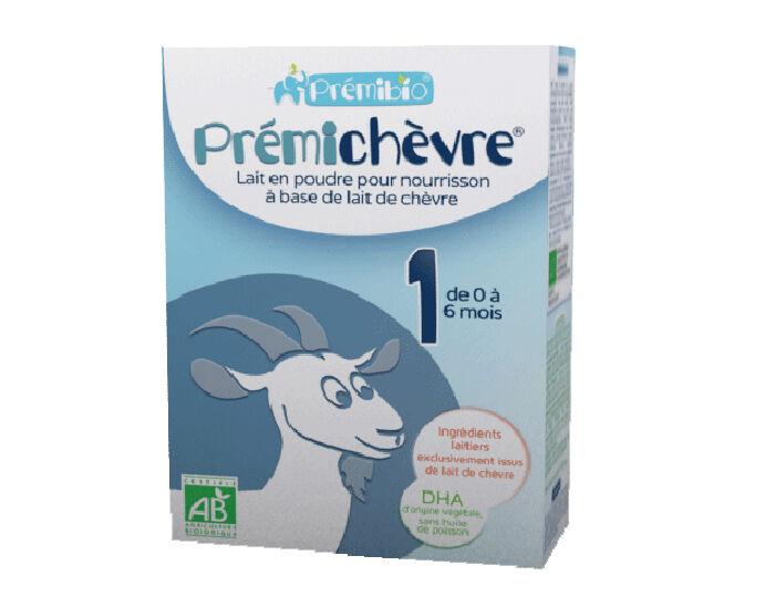 PRéMIBIO PRÉMICHÈVRE Préparation pour Nourrisson à base de Lait de Chèvre - De 0 à 6 mois - 600g