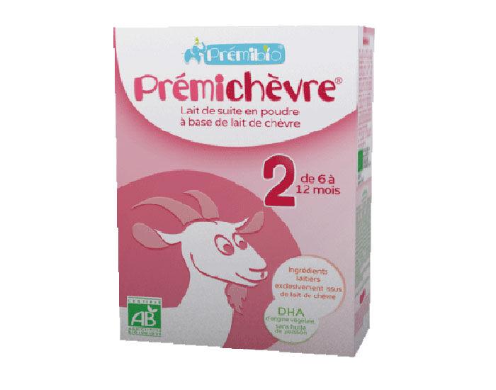 PRéMIBIO PRÉMICHÈVRE Préparation de Suite à base de Lait de Chèvre - De 6 à 12 mois - 600g