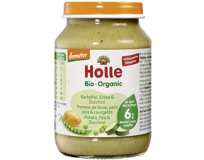 HOLLE Petit Pot Légume - 190 g Pommes de Terre-Petits Pois-Courgette - 6M