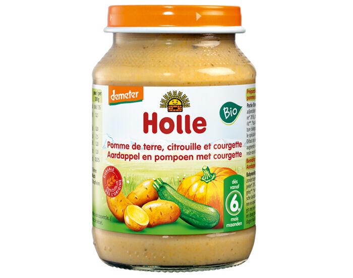 HOLLE Petit Pot Légume - 190 g Courgette - Citrouille - Pomme de Terre - 6M