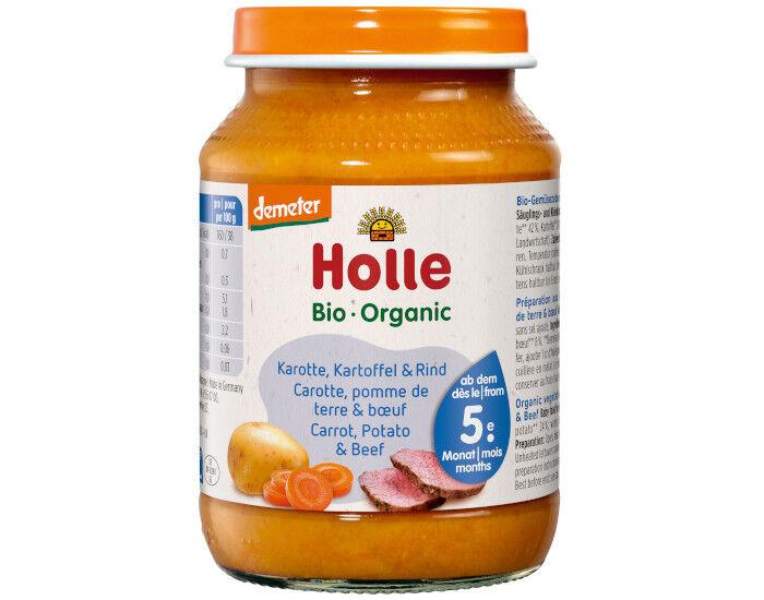 HOLLE Petit Pot Menu Carotte - Pomme de Terre - Boeuf - 4M