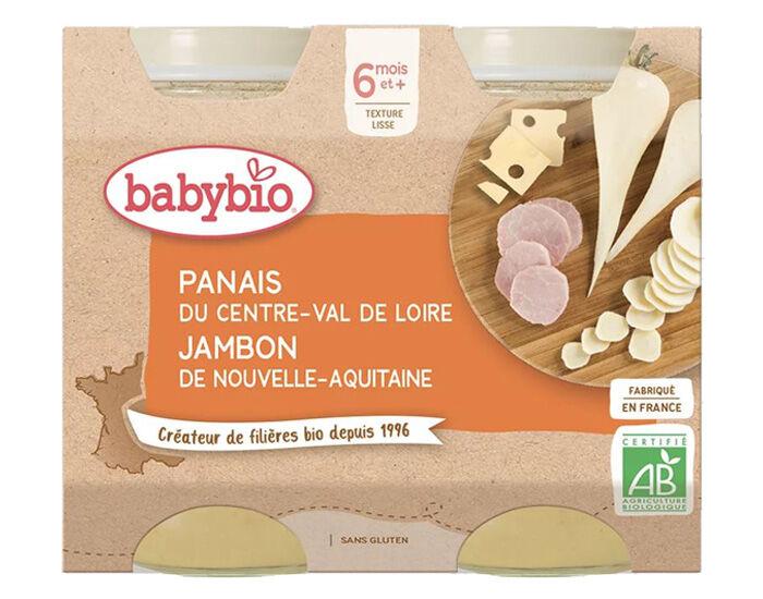 BABYBIO Petits Pots Menu du Jour - 2 x 200g - Dès 6 Mois Panais Jambon