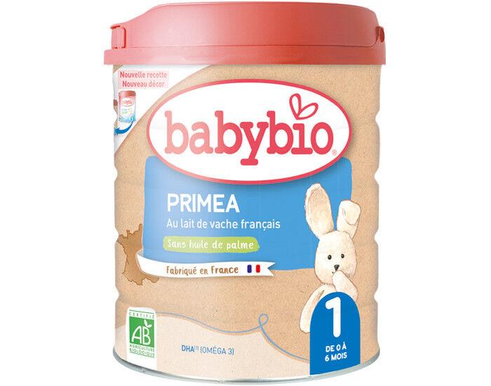 BABYBIO Lait pour Nourrisson 1 Primea - De 0 à 6 Mois - 900g