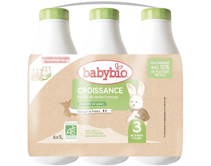 BABYBIO Croissance Liquide - Dès 10 Mois - 6 x 1 L
