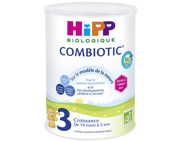 HIPP Pack x3 Croissance Combiotic - Dès 12 mois - 900 g