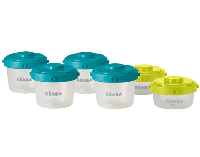 BéABA BEABA Lot de 6 Pots de Conservation - 1er Age - 2 x 60 ml et 4 x 120 ml