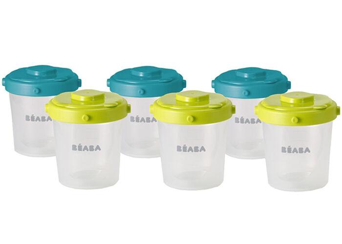 BéABA BEABA Lot de 6 Pots de Conservation Clip - 2ème Age - 200 ml