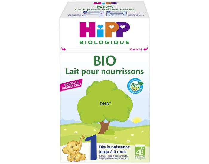 HIPP Lait Bio pour Nourrisson 1 - 0 - 6 Mois - 600g