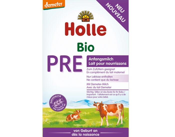 HOLLE Lait pour Nourrissons 0-6 mois PRE - Demeter - 400 g