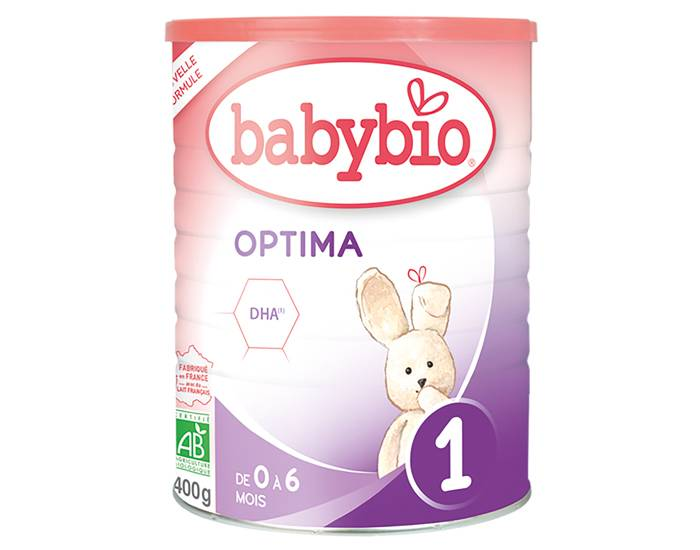 BABYBIO Lait pour Nourrisson 1 Optima - De 0 à 6 mois - 400g