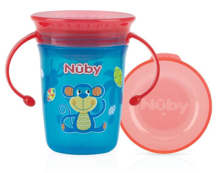 NUBY Gobelet Magique 360o Aqua avec Anses - 240ml - 6+ mois