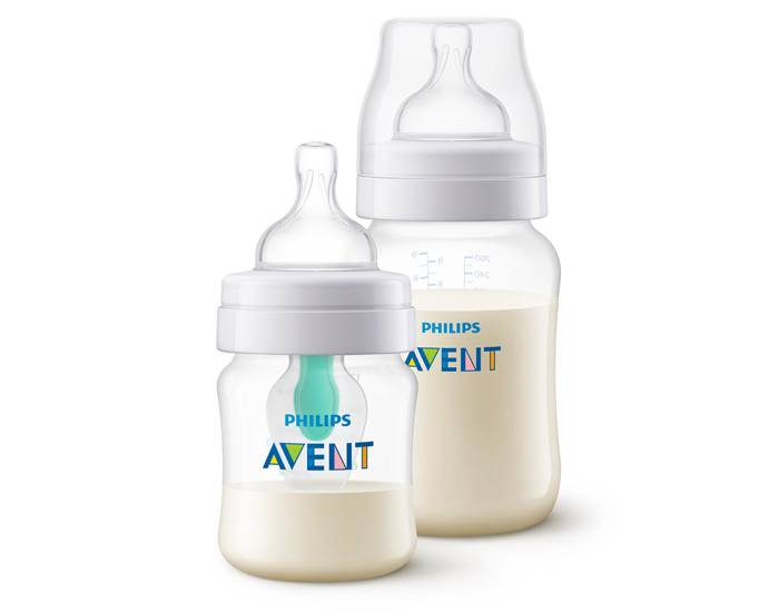 AVENT Biberon Anti-colic avec Valve Airfree - Lot 125 ml + 260 ml