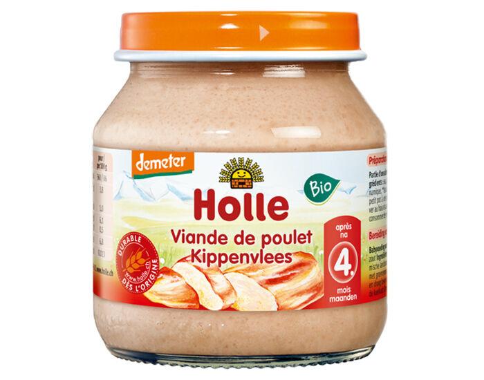 HOLLE Petit Pot de Viande - 125 g Poulet - 4 mois
