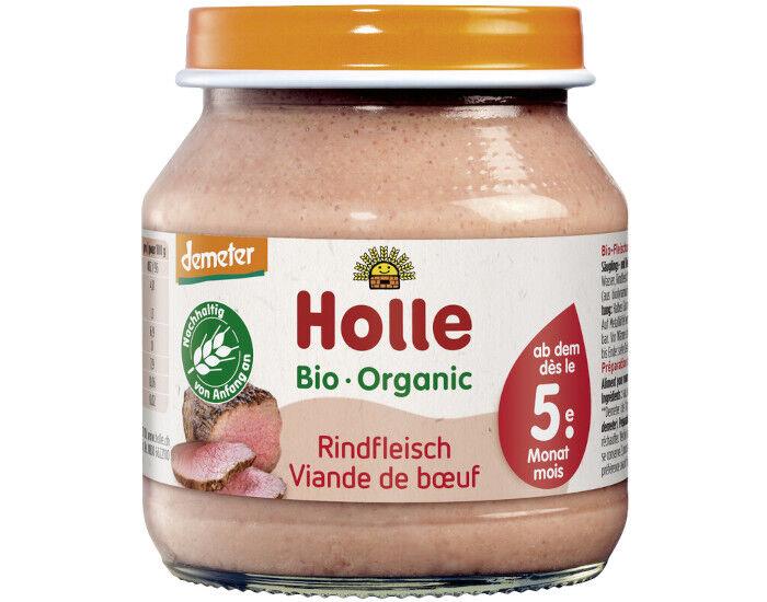 HOLLE Petit Pot de Viande - 125 g Boeuf - 4 mois