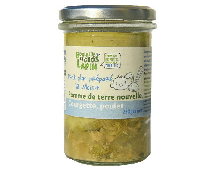BOULETTE ET GROS LAPIN Pot Pommes de Terre Nouvelles Courgette Poulet - Dès 18 mois - 250 g