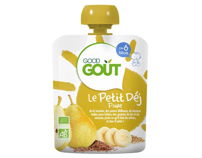 GOOD GOûT GOOD GOUT Pack x10 Le Petit Déj Gourde - Dès 6 mois - 70 g Le Petit Déj Poire - Dès 6 mois - 70 g