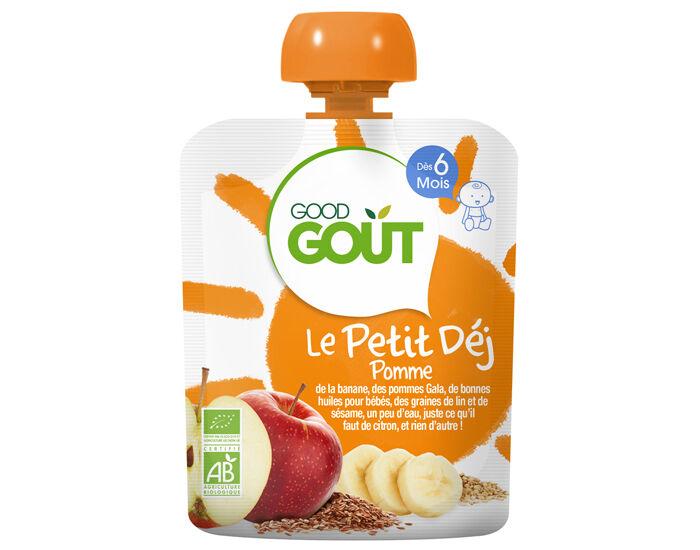 GOOD GOûT GOOD GOUT Pack x10 Le Petit Déj Gourde - Dès 6 mois - 70 g Le Petit Déj Pomme - Dès 6 mois - 70 g