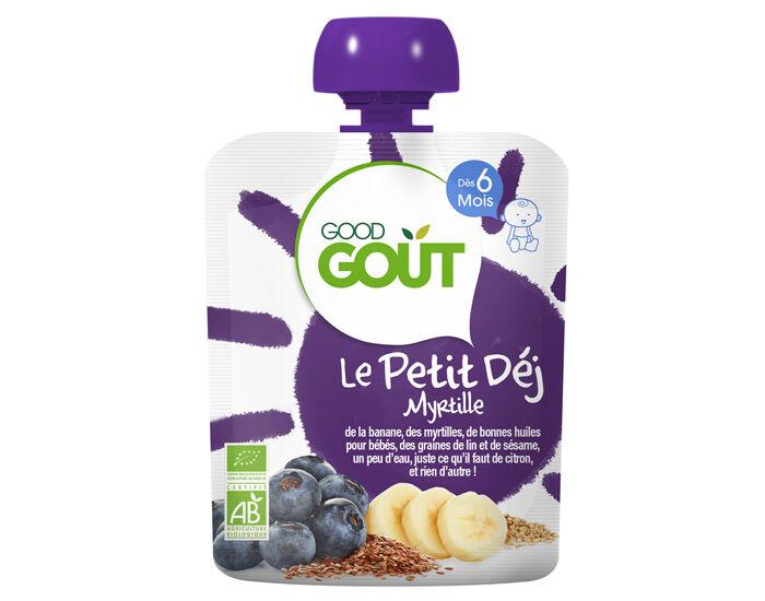 GOOD GOûT GOOD GOUT Pack x10 Le Petit Déj Gourde - Dès 6 mois - 70 g Le Petit Déj Myrtille - Dès 6 mois - 70 g