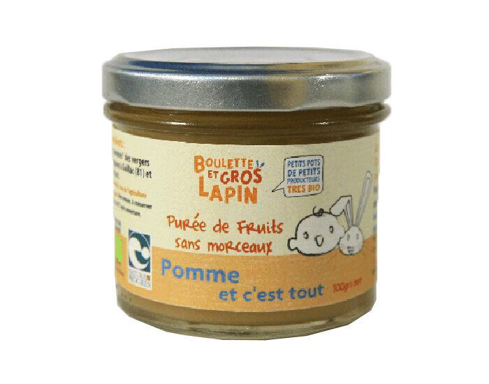 BOULETTE ET GROS LAPIN Petit Pot Purée de Pommes - 100 g - Dès 6 mois