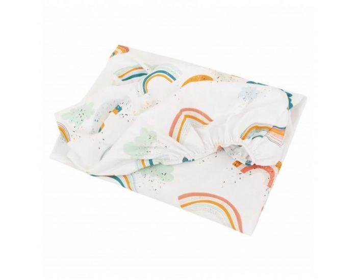 SEVIRA KIDS Drap housse bébé en coton certifié - Collection Premium - Arc en Ciel 70x140