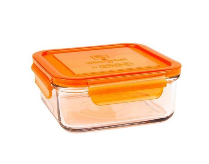 WEANGREEN 1 Pot de Conservation en verre trempé - 850ml  Orange