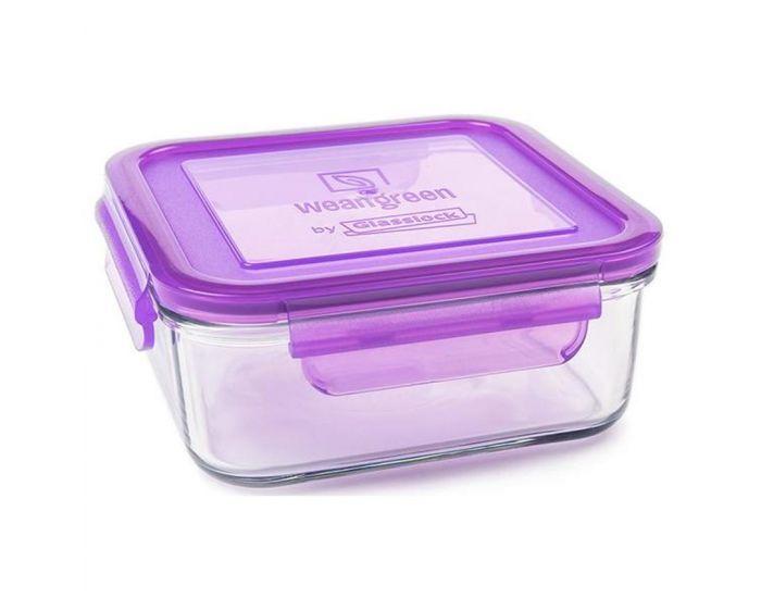 WEANGREEN 1 Pot de Conservation en verre trempé - 850ml  Violet