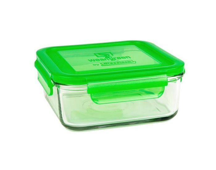 WEANGREEN 1 Pot de Conservation en verre trempé - 850ml  Vert