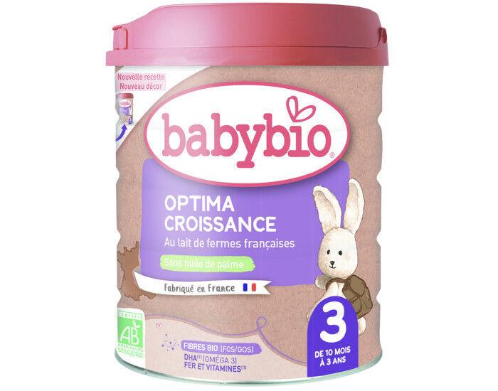 BABYBIO Lait Croissance Optima 3 - 800g - Dès 10 mois
