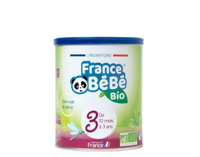 FRANCE BéBé BIO Pack 3 Boites Lait Croissance 3 - Dès 10 mois 3x400