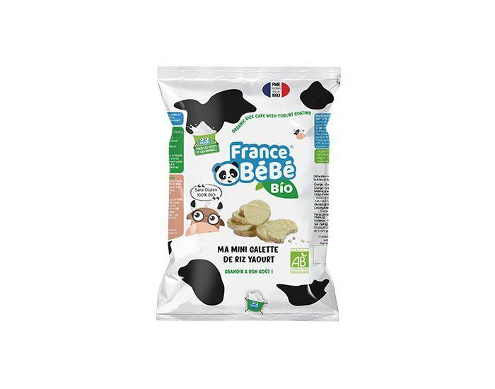 FRANCE BéBé BIO Pack 6 Sachets Mini Galette de Riz Nappée Yaourt - 6x84g