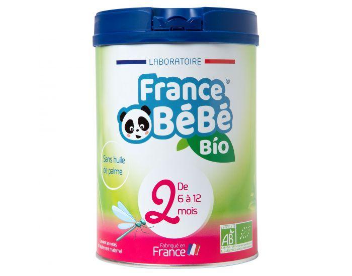 FRANCE BéBé BIO Pack 3 Boîtes Lait de Suite 2 - Dès 6 mois 3x800