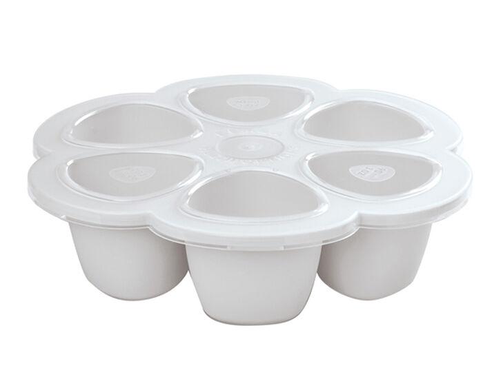 BéABA BEABA Set de Congélation pour les Repas de Bébé - 6 x 90 ml - Gris