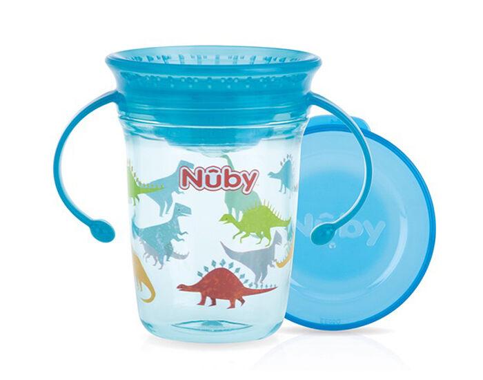 NUBY Gobelet Magique 360o avec Anses - 240 ml Bleu