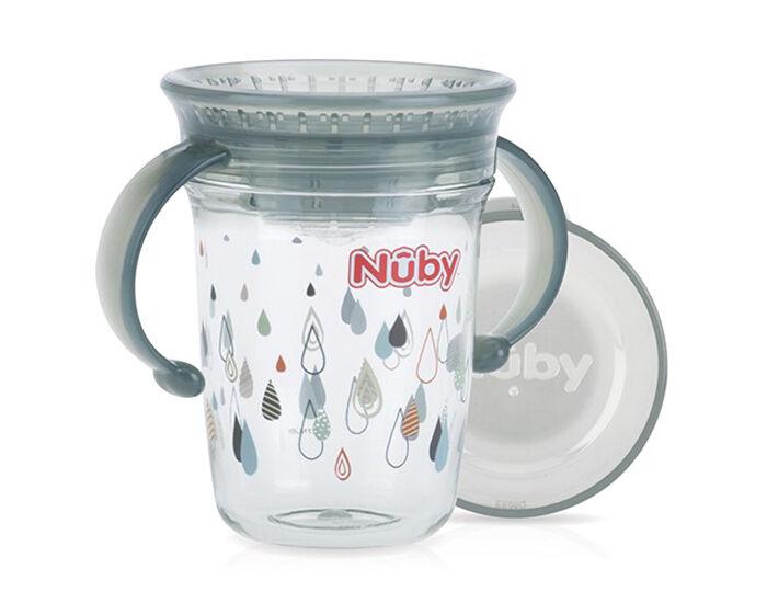 NUBY Gobelet Magique 360o avec Anses - 240 ml Gris