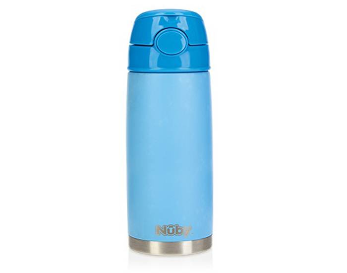 NUBY Gourde Isotherme Thirsty Kids - 420 ml Bleu