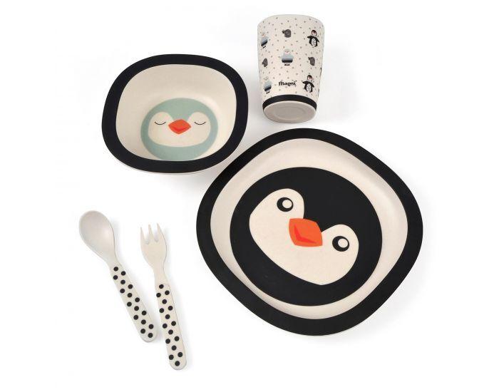 SEVIRA KIDS Coffret Repas Bébé en Bambou, Pingouin