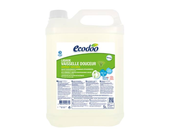 ECODOO Liquide Vaisselle Main Doueur - Verveine 5L