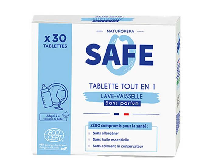 SAFE Tablettes Lave-Vaisselle 3 en 1 - 30 Tablettes