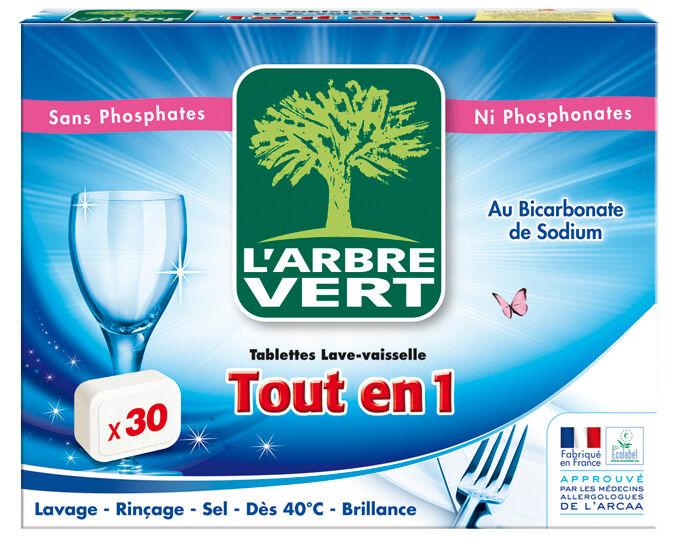 L'ARBRE VERT Tablettes Lave Vaisselle Tout-en-1 - 30 Doses