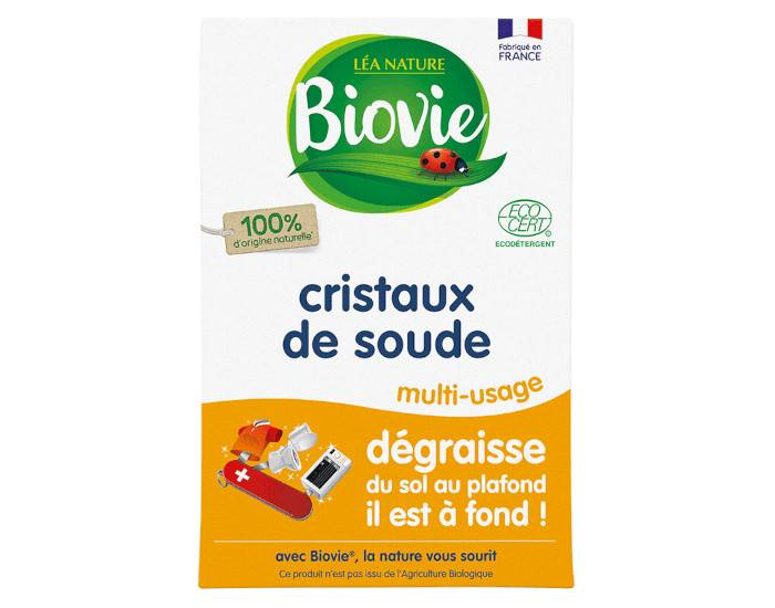 BIOVIE Cristaux de Soude Super Dégraissant - 500 g