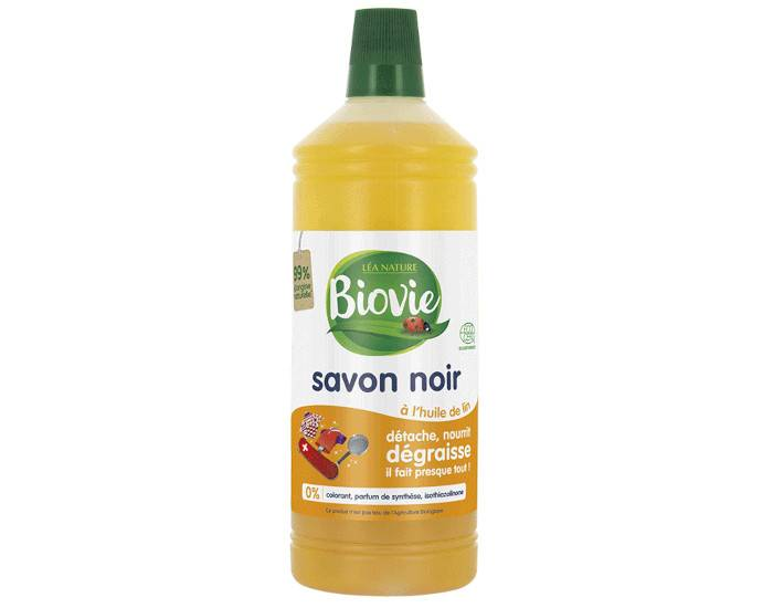 BIOVIE Savon Noir Liquide à L'Huile de Lin - 1 L