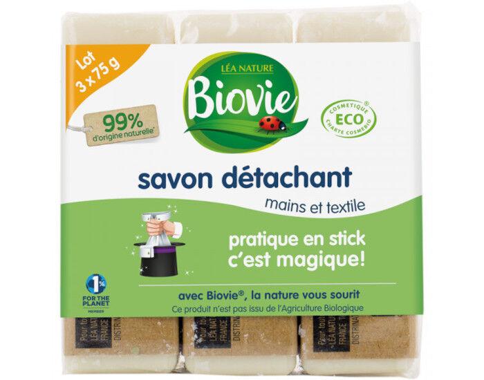 BIOVIE Savon Détachant à L'Huile d'Olive - 3 x 75 g