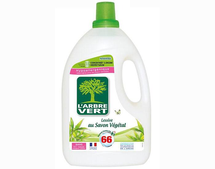 L'ARBRE VERT Lessive Concentrée au Savon Végétal Bidon de 3L