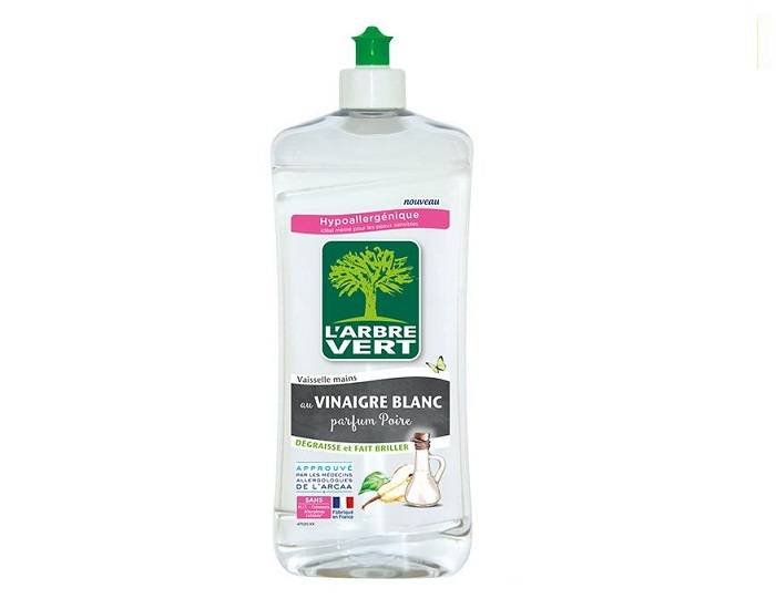 L'ARBRE VERT Liquide Vaisselle Vinaigre Blanc Poire - 750 ml