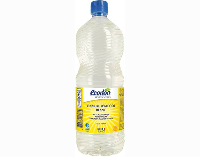 ECODOO Vinaigre d'Alcool Blanc 1 L