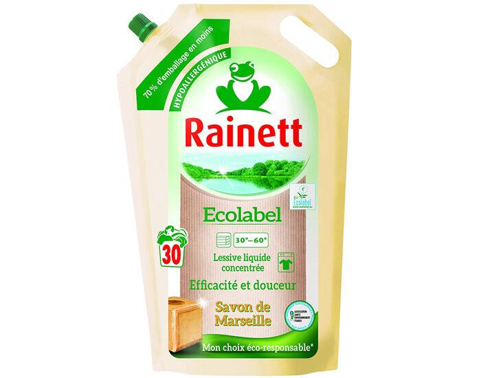 RAINETT Lessive Liquide Savon de Marseille - Recharge de 1,98 L