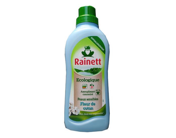 RAINETT Assouplissant Ecologique Concentré Peaux Sensibles Fleur de Coton - 750 ml